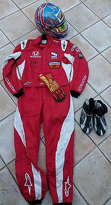 Set !!!! : Race Suit / Gloves / Shoes / Helmet  Used - Jay Howard  - Signed