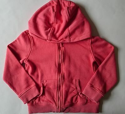 5-6 years girls childrens clothes - red orange hooded jacket