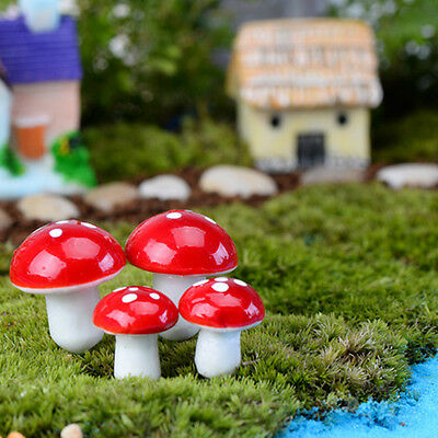 Home & Garden 10pcs Mini Red Mushroom For Plant Pots Fairy Decor Garden Dollhouses Home Office Fast Color Yard, Garden & Outdoor Living