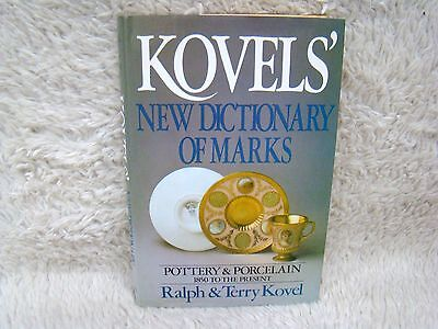 1986 Kovels' New Dictionary of Marks Pottery/Porcelain by Ralph & Terry Kovel Hb