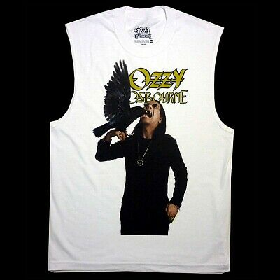 Ozzy Osbourne Crow Cackle White Sleeveless Muscle Shirt S M L XL XXL Official