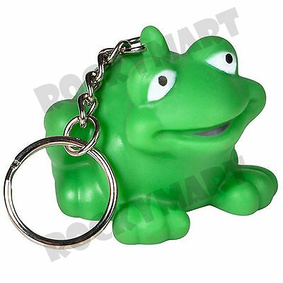 "2"" Rubber Frog Key Chain Rm3266"