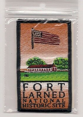Embroidered Souvenir Patch - Fort Larned,  Kansas