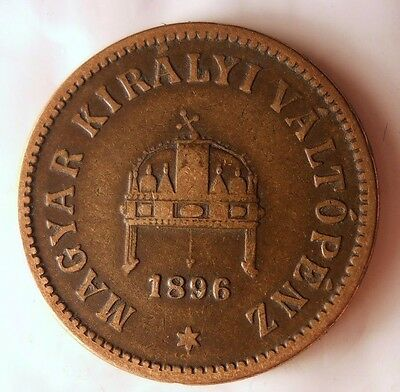 1896 HUNGARY 2 FILLER - Excellent Vintage Coin - AUSTRIA/HUNGARY BIN #2