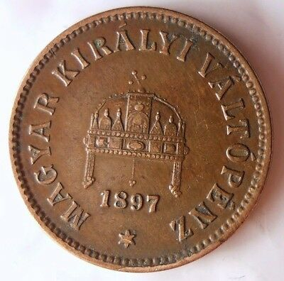 1897 HUNGARY 2 FILLER - Excellent Vintage Coin - AUSTRIA/HUNGARY BIN #2