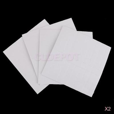 2x 400x Self Adhesive Double Sided Foam Pads Sticky Fixers 3D Effect 1mm Square