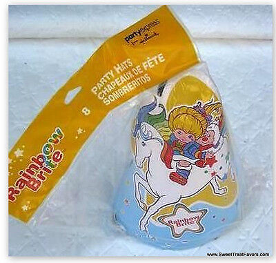 RAINBOW BRITE Party Supplies Favor HATS Birthday Treats x8 Horse Decoration NEW
