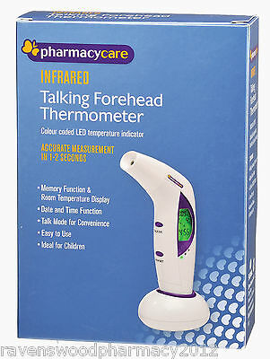 Pharmacy Care INFRARED Talking Forehead Thermometer :FAST 1-2 Seconds: