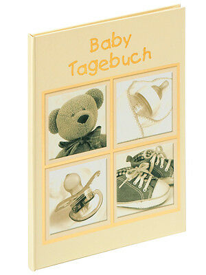 Baby Tagebuch Sweet Things, beige gold, 20 cm x 28 cm