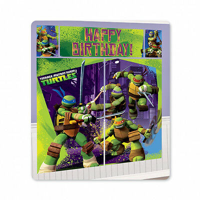 Ninja Turtle Birthday Wall Scene Setter Party Banner Decoration Photo Backdrop