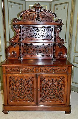 Stunning Antique French Server Beautiful Mahogany Model Wonderful Carved Design
