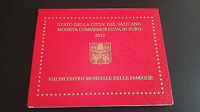 """Vatican 2 Euro coin 2015 """"8th Meeting of Families in Philadelphia"""" in blister"""
