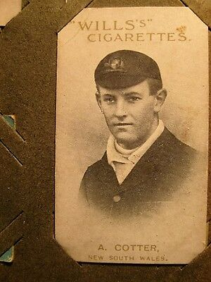 Cigarette Card- 1911-12 Australian & English Cricketers - A. Cotter, N.S.W. (14)