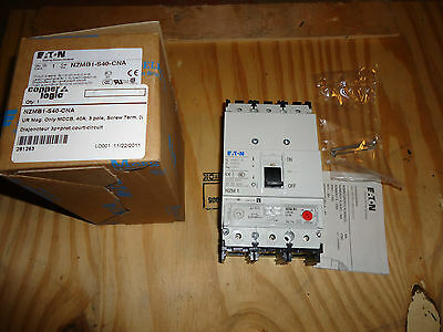 Eaton Circuit Breaker 3P+ Short-Circuit Prot 40Amp Cat# Nzmb1-S40-Cna New
