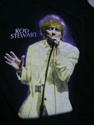 Rod Stewart L Black Night To Remember Tour T-Shirt Approx 20 Inches Across Chest