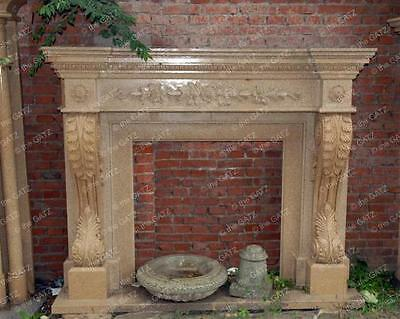Hand Carved Marble Fireplace Mantel #3928