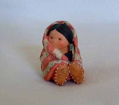 WRAPPED IN LOVE Southwest FRIENDS OF THE FEATHER Native Girl BLANKET MOCCASINS