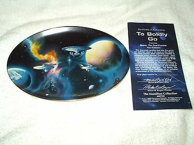 The Hamilton Collection Collector's Plate Star Trek To Boldly Go