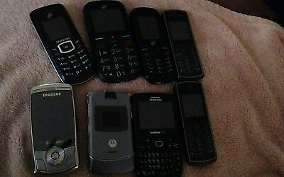 Lot of 8 cell phones untested for parts