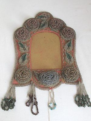Antique Iroquois Beaded Frame Exceptional