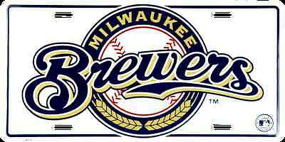 Milwaukee Brewers Car Truck Tag License Plate Embossed Metal Sign Man Cave