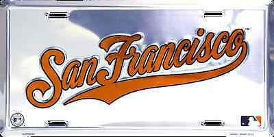 San Francisco Giants Car Truck Tag Chrome License Plate Embossed Metal Sign