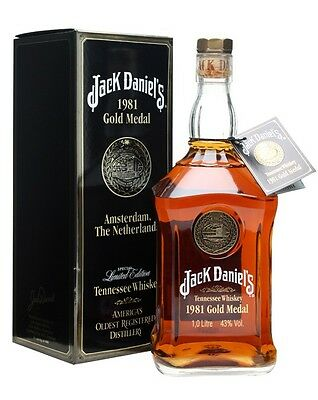 1981 Jack Daniels Gold Medal Tennessee Whiskey 750ml RARE