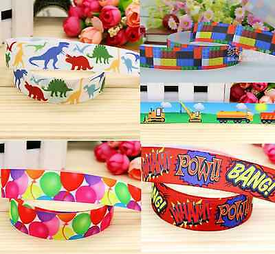 "1m PARTY CAKE BOARD RIBBON GROSGRAIN RIBBON 7/8"" 22mm HAIR BOW CAKE BIRTHDAY"