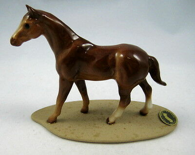 Hagen Renaker miniature made in America Quarter Horse on base retired