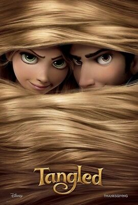 TANGLED MOVIE POSTER 2 Sided ORIGINAL Advance 27x40 MANDY MOORE