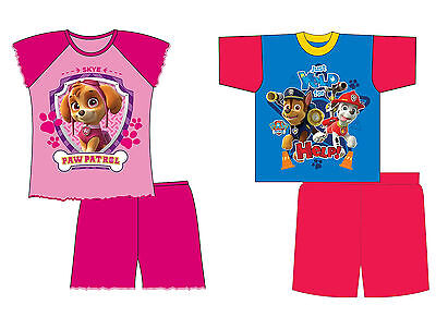 BOYS GIRLS CHILDREN NICK JR PAW PATROL SHORT PJS NIGHTWEAR Pyjamas 18m-4years
