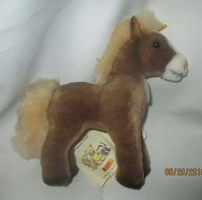 "STEIFF COSY FERDY HORSE, All Tags, Button, #097522, 8""x8"""