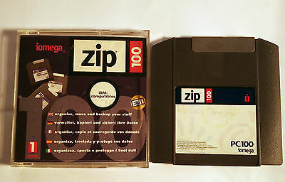 USED Iomega Zip 100MB PC formatted disks  - Checked