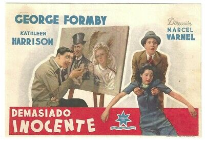 D Much Too Shy George Formby Spanish Herald Mini Poster