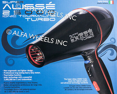 Alisse Turbo Hair Blower 2000 Watts Professional Tourmaline with Ionic Generator