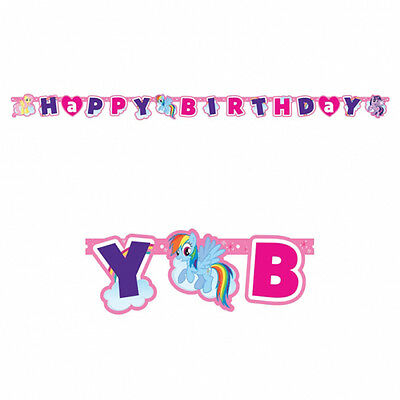 My Little Pony Childrens Happy Birthday Letter Banner Decoration Party Bunting