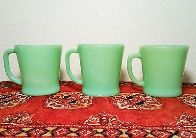 3 fire king mug jadeite green flat bottom antique jade kitchen glass d handle