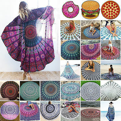 NEW Hippie Round Mandala Tapestry Indian Wall Hanging Beach Throw Towel Yoga Mat