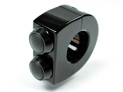 """MOTOGADGET MG4000320 M-Switch 2 Button Black Housing Black Button For 7/8"""" Bars"""