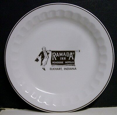 1973 Ramada Inn Hotel Bread & Butter Plate - Elkhart, IN