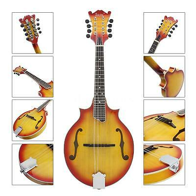8-String W-Style Cutaway Mandolin 23 Fret with Bag Exquisite Workmanship C6N2