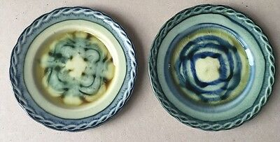 """Portmadoc Wales Pottery 2 x Small Side Plates Each 6"""" Diameter"""