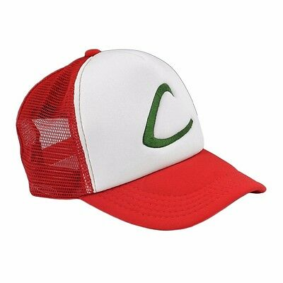 NEW Ash Ketchum Pokemon GO Cap Embroidery Trucker Hat Cosplay Costume