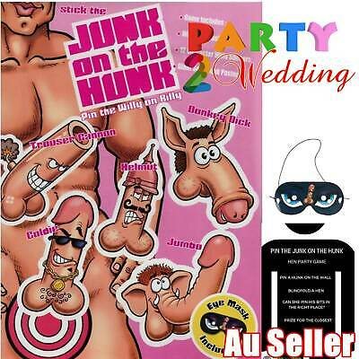 Stick The Junk On The Hunk Adult Game Hens Night Party Dick Willy Bachelorette