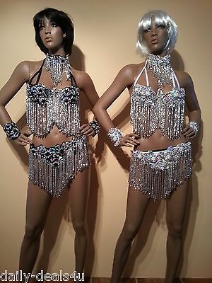 Brazilian SAMBA Bikini- 5 piece SET!  Carnival Full Costume Size 6-10 Drag Queen