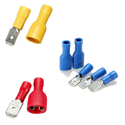 Insulated Electrical Female Spade Terminals Crimp Connector Male Tab Terminal