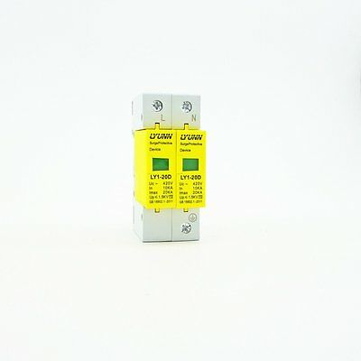 2P 10KA~20KA Din Rail Surge Protection Device SPD Lightning Arrester Protection