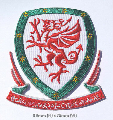 Wales Patch Embroidered Football Crest Badge Welsh Souvenir Applique Euro 2016