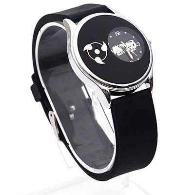 Anime Naruto Uchiha Sharingan Quartz Silicone Bracelet Watch Cosplay Wristwatch
