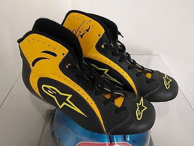 Race Shoes Used - Giancarlo Fisichella  - Jordan F1  - Signed